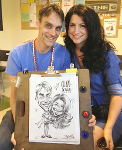 Glenn and Denise caricature @ Line 6 annual co  party