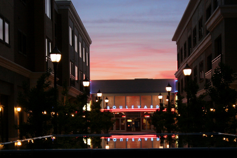 Cinema Square Reflection in Petaluma
