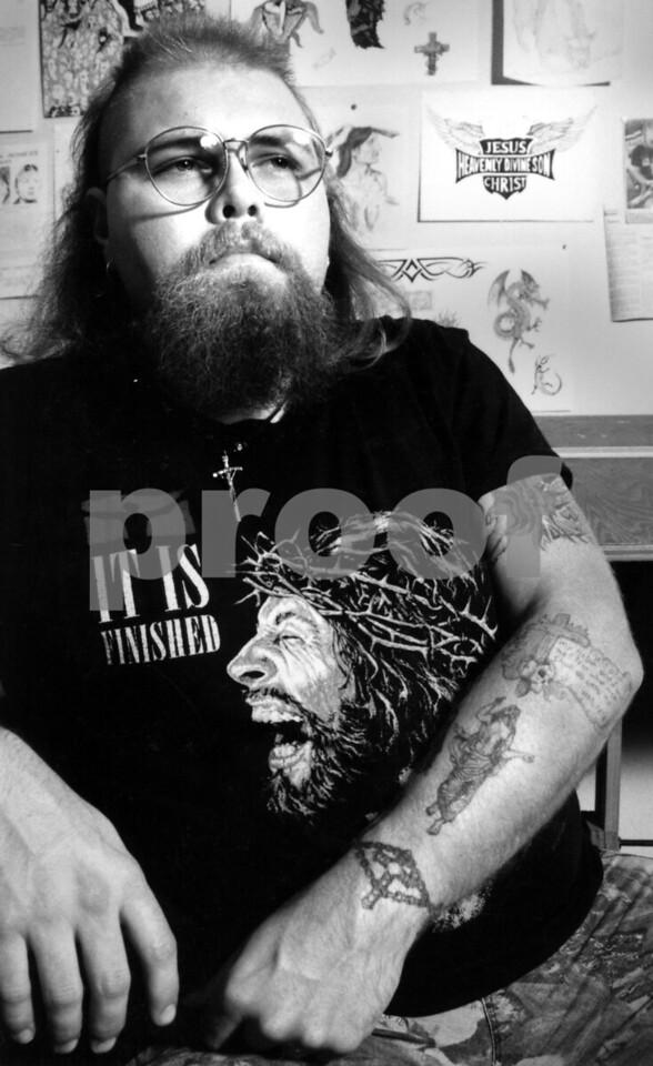 Greg Ashcraft's tattoo parlor, Bessemer Alabama, 1996 NOT FOR SALE