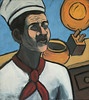 "The Cook. 2003. oil on canvas. 16"" x 18"""