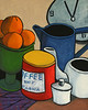 "Still Life with Coffee. 2009. Oil on canvas. 16"" x 20"""