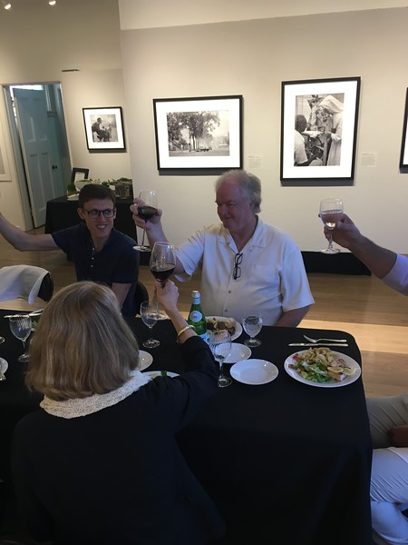 private dinner at the gallery on Sunday