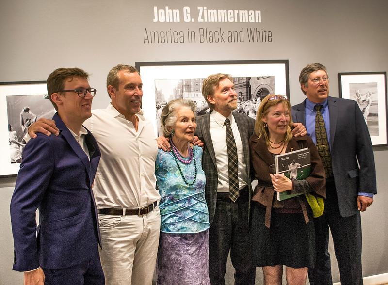 Curator from Belgium, cousin Greg, Aunt Delores, Director Brian Taylor, cousin Linda, cousin Darryl