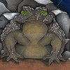 Boulder Toad Illustration by Jordan Pawlik for the book Remnants of Humanity