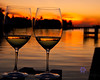 Sunset wine glasses