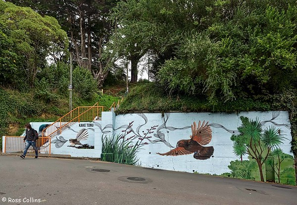 Joe McMenamin mural, Kake Tonu Way, Wellington, 18 April 2018