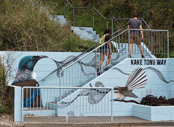 Joe McMenamin mural, Kake Tonu Way, Wellington, 21 January 2018