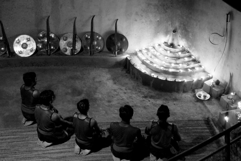 Kalaripayattu in Punarjani, Munnar