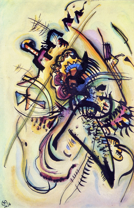 To the Unknown Voice - A believer in Romanticism, Kandinsky sought to hear his inner voice, which told him when he met the woman he should marry. This painting was his first gift to his fiance.