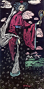 The Mirror - Art critics wonder who Kandinsky portrayed looking into the mirror. Dismissing the woman as Venus, many believe she is Oletchka's stepmother, who like the Snow Queen possessed a talking mirror which told her that she was not the most beautiful female in the land.