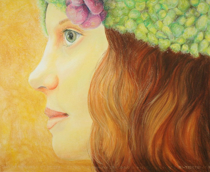 """Olivia""<br /> Size: 19"" x 23""<br /> Medium: Pastels <br /> Date: Winter 2007"