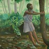 """Tree Hugger""<br /> Medium: Oil on illustration board"