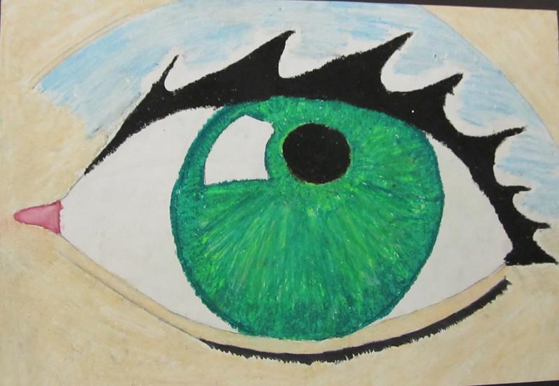 One very big eye
