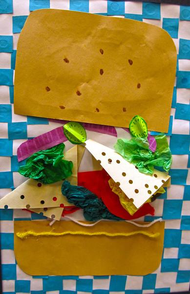 Paper Hamburger