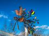 Kinetic sculpture at Matthaei Botanical Gardens