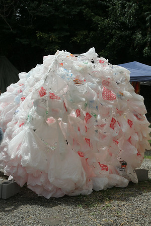 plastic bag igloo