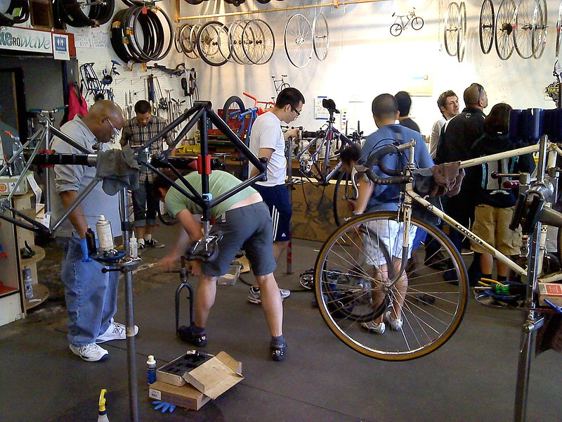 Community cycle work space, BIKEROWAVE, Mar Vista.