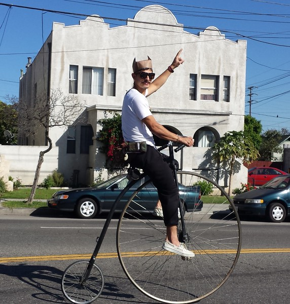A Penny Farthing in Lincoln Heights.