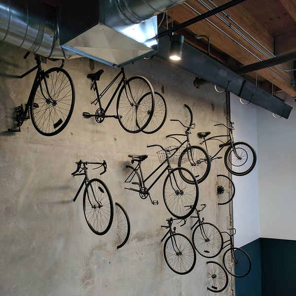 Bike Wall at the Wheelhouse, dtla.