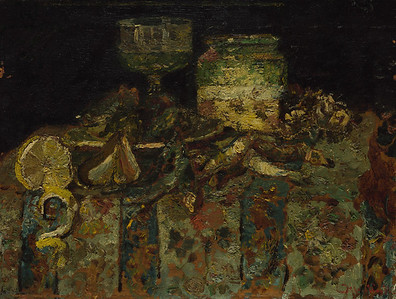 Still Life: Oysters, Fish