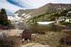 Lower Mohawk Lake and Mining Cart - Summit County, Colorado