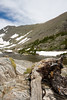 Lower Mohawk Lake and Driftwood with Snow in Summer - Summit County, Colorado