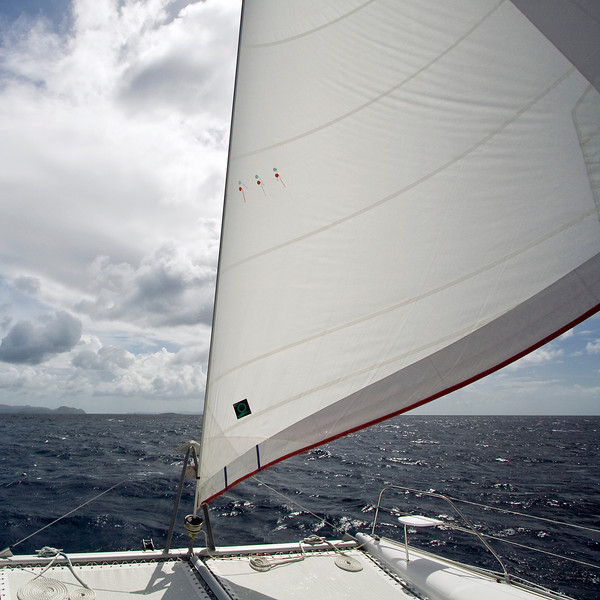Catamaran Jib in the Caribbean