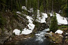 Spruce Creek with Snow in Summer - Summit County, Colorado