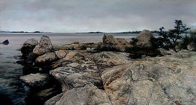 The Rocky Shore, Mason's Island, CT.