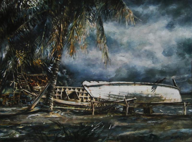 Boats, Tonsai Village, Phi Phi Island, Thailand