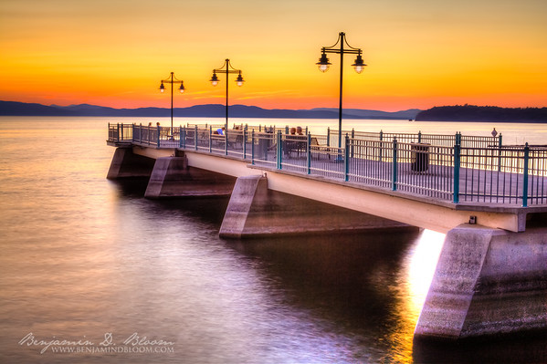 Sunset at the Burlington, VT Fishing Pier