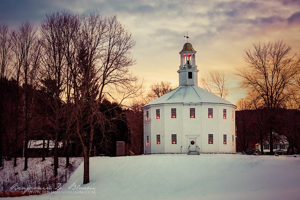 The Round Church at Christmastime