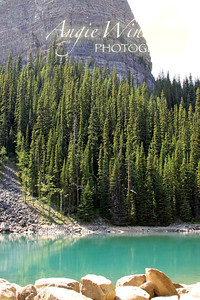 "Mirror Lake and the ""Beehive"" near Lake Louise."
