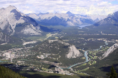 View from Sulphur Mountain, Banff