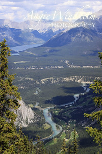View from Sulphur Mountain, Banff.