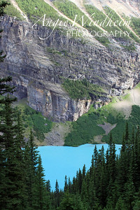 The impossibly blue Lake Louise from Lake Agnes trail.