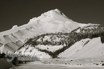 Mt. Hood seen from White River in January 2011