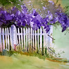 "Wisteria<br /> watercolor<br /> 22"" x 15"" SOLD ORIGINAL<br /> giclees available"