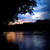 Savannah River at sunset