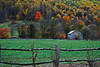 A photograph of a barn in Barnardsville NC during autumn