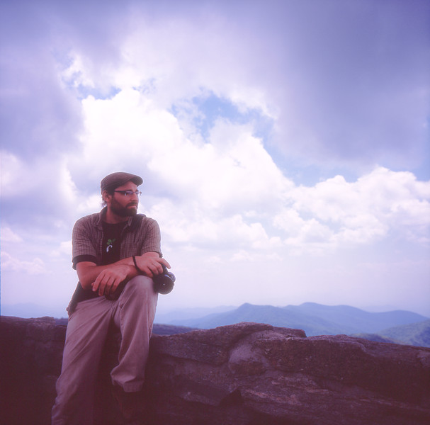 Portrait of Trav Williams at Craggy Pinnacle