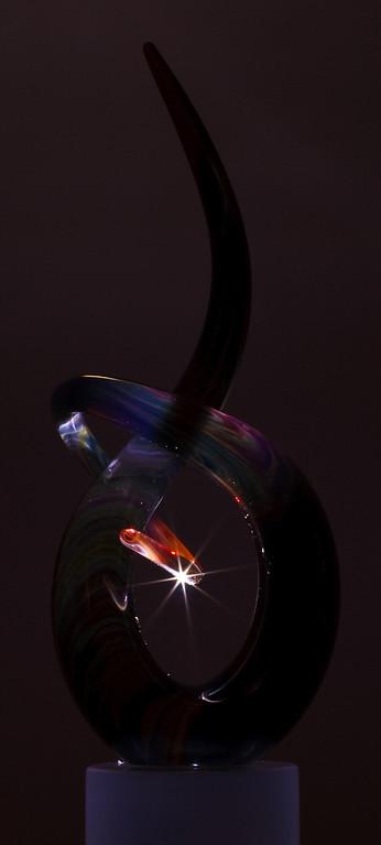 Laser light sculpture