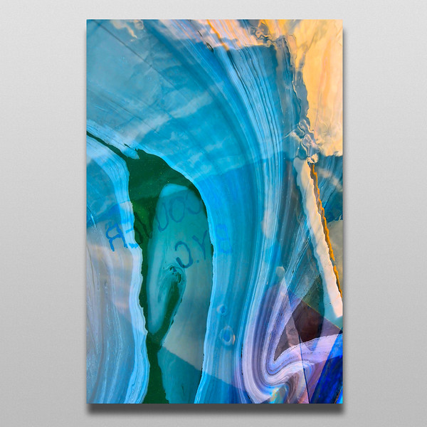 Acrylic prints with aluminum back and standoff to compliment any decor
