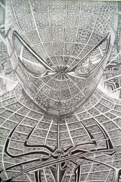 A penciel drawing by Leominster High School junior Aida Crespo was on display at the second annual art show for city students from elementary through high school at Leominster City Hall Tata Auditorium on Wednesday night. SENTINEL & ENTERPRISE/JOHN LOVE