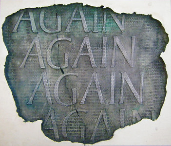 Bamber Hawes ~ 'Again, again, again', coloured Jesmonite panel