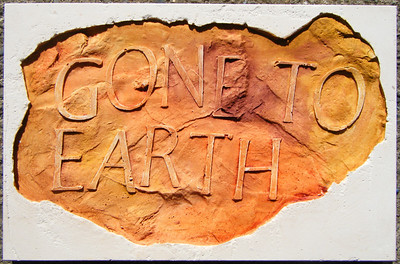 Bamber Hawes ~ 'Gone to earth', coloured Jesmonite panel
