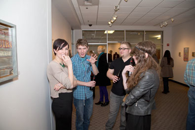Opening of Liar Liar Regional Juried Exhibition Feb. 21, 2014