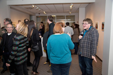 Opening of Liar Liar Regional Juried Exhibition Feb. 21, 2014