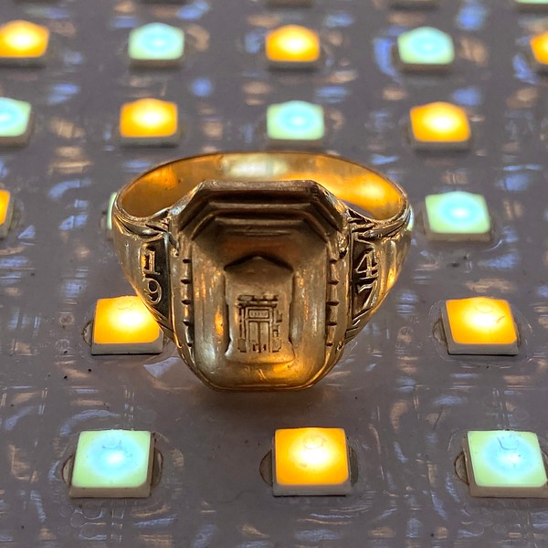 My father's high school class ring, ca. 2015