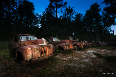 the old cars just south of Crawfordsville, Fl